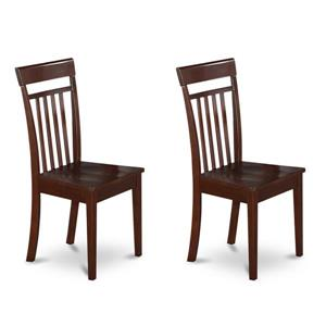 East West Furniture Capri 16.5-in X 38.5-in Mahogany Side Chairs (Set of 2)