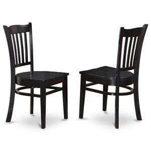 East West Furniture Groton 17.75-in X 37-in Black Side Chairs (Set of 2)