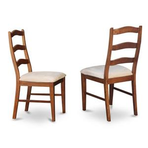East West Furniture Henley Traditional 18-in X 38.5-in Espresso Side Chairs (Set of 2)