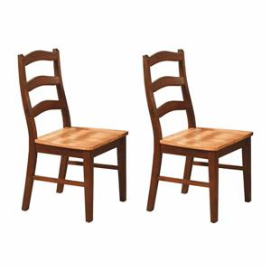 HenlEast West Furniture Henley Traditional 18-in X 38.5-in Cinnamon Espresso Side Chairs (Set of 2)ey Traditional Cinnamon/Espre