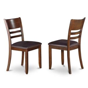 East West Furniture Lynfield 18.5-in X 36-in Espresso Side Chairs (Set of 2)
