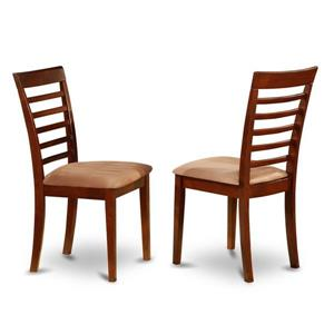 East West Furniture Milan 18.5-in X 36-in Mahogany Side Chairs (Set of 2)