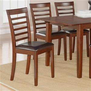 East West Furniture Milan 16.5-in X 28-in Mahogany Side Chairs (Set of 2)
