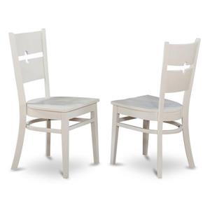 East West Furniture Shelton 18-in Linen White Rockville Dining Chairs (Set of 2)