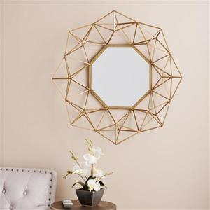 Boston Loft Furnishings Laurel 29-in x 29-in Matte Gold Beveled Octagon Wall Mirror