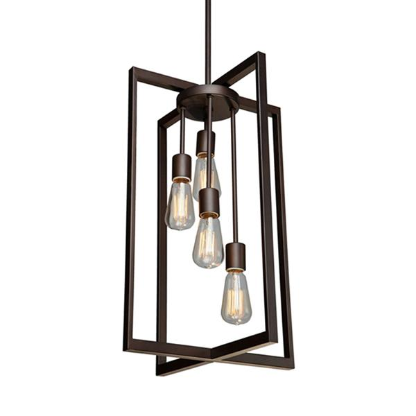 Artcraft Lighting Gastown Collection 42-in Oil Rubbed Bronze 4-Light French Country Cottage Cage Chandelier