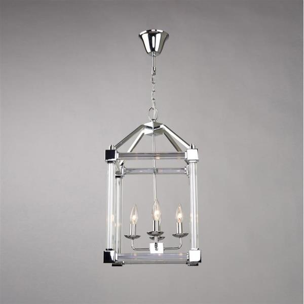Artcraft Lighting Prince Arthur Collection 96-in Chrome 4-Light Transitional Cage Chandelier