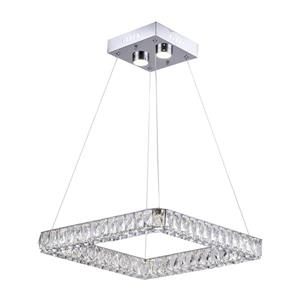 Design Living Chrome 2-Light Crystal Linear LED Chandelier