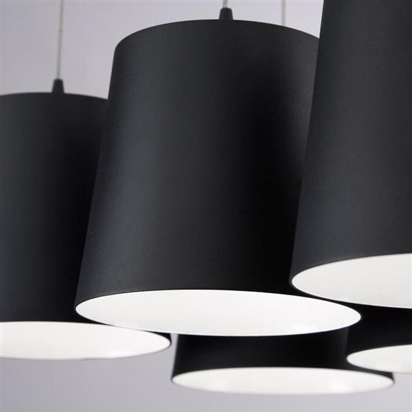 Eurofase Organic Collection 42-in Black Clear 5-Light Abstract LED chandelier