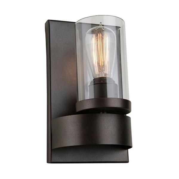 Artcraft Lighting Menlo Park 4.75-in W 1-Light Dark chocolate brown Candle Wall Sconce