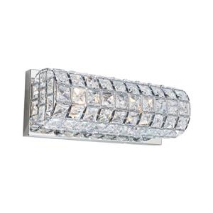 Artcraft Lighting Sterling 12-in W 2-Light Chrome Pocket Wall Sconce