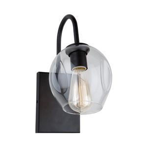 Artcraft Lighting Organic 6-in W 1-Light Black Arm Wall Sconce