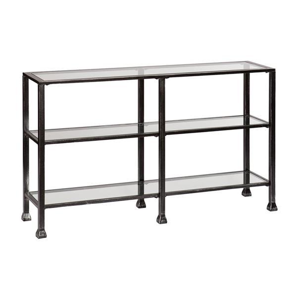 Boston Loft Furnishings Carson Clear Glass Modern Console Table