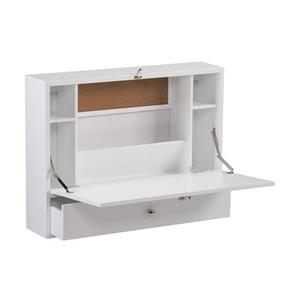 Boston Loft Furnishings Versa White Floating Desk