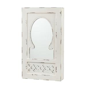 Boston Loft Furnishings Gayla Antique 30-in x 17-in Off-White Wall-Mount Jewelry Armoire