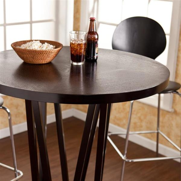 Boston Loft Furnishings Maguire Espresso Round Fixed Bar Table