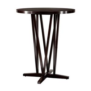 Boston Loft Furnishings Maguire Espresso Round Fixed Bar Table