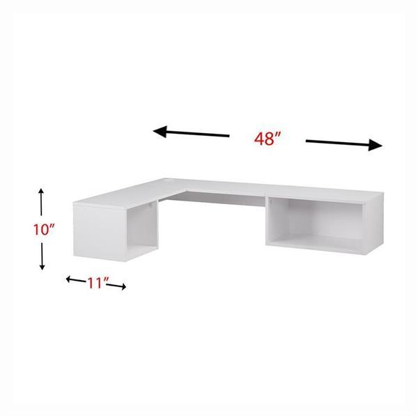 Boston Loft Furnishings Fayn White Floating Desk