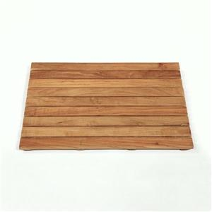 "ARB Teak & Specialties Natural Wood Bath Mat - 25"" x 18"" - Teak - Brown"