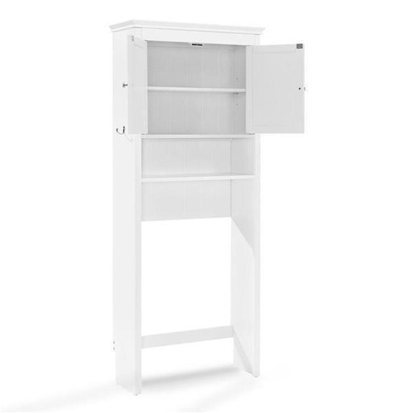 Crosley Furniture Lydia 27-in x 66.5-in White Composite Freestanding Linen Cabinet