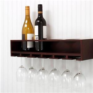 Nexxt Designs Kiera Grace Claret Wine Bottle Wall Shelf and Wine Glass Rack
