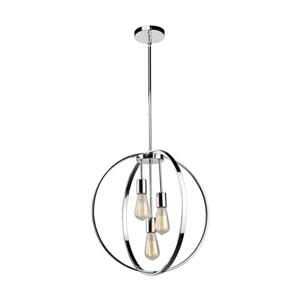 Artcraft Lighting Newport Chrome Contemporary Cage 3-Light Pendant Lighting
