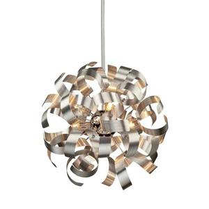 Artcraft Lighting Artcraft Lighting Bel Air 18-In x 18-In Brushed Nickel Modern/ Contemporary Pendant