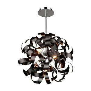 Artcraft Lighting Artcraft Lighting Bel Air 18-In x 18-In Metallic Black Modern/ Contemporary Pendant