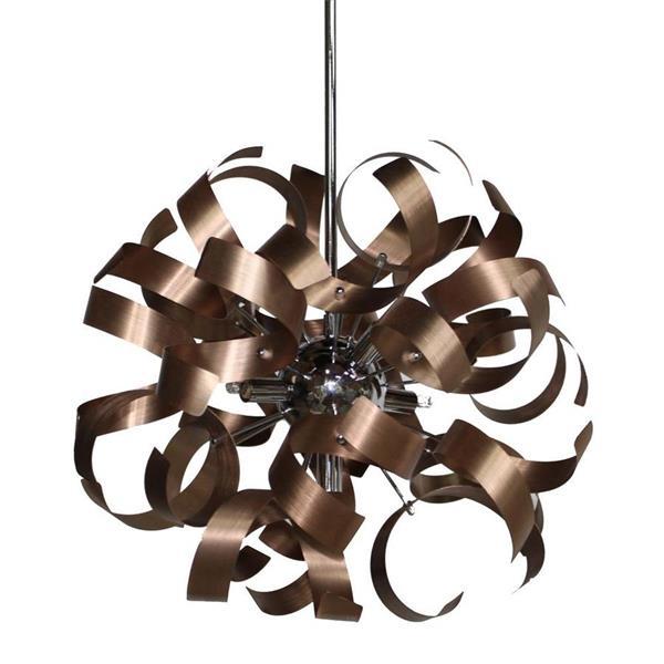 Artcraft Lighting Artcraft Lighting Bel Air 18-In x 18-In Brushed Copper Modern/ Contemporary Pendant