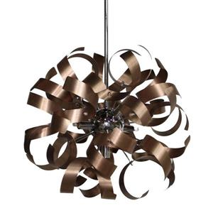 Artcraft Lighting Artcraft Lighting Bel Air 18-In x 18-In Brushed Copper Modern/ Contemporary Pendant