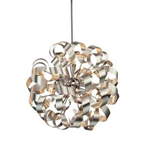Artcraft Lighting Artcraft Lighting Bel Air 24-In x 24-In Brushed Nickel Modern/ Contemporary Pendant