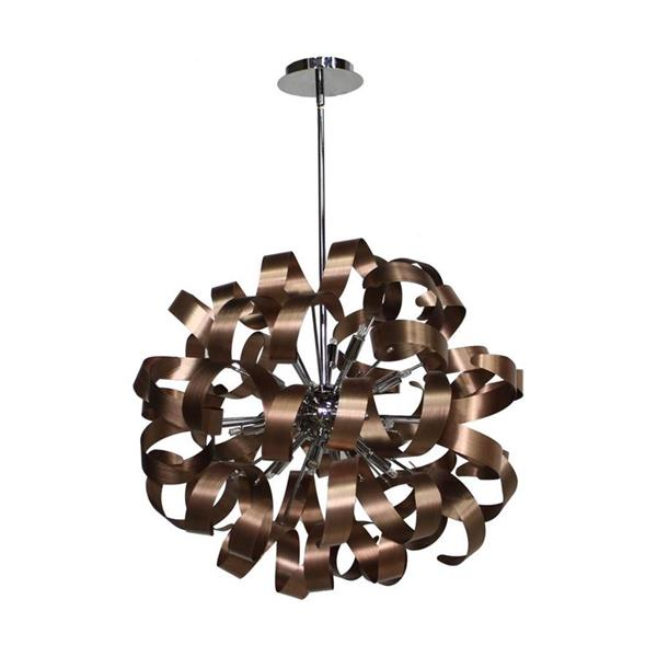 Artcraft Lighting Artcraft Lighting Bel Air 24-In x 24-In Brushed Copper Modern/ Contemporary Pendant