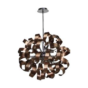 Artcraft Lighting Artcraft Lighting Bel Air 24-In x 24-In Brushed Copper Modern/ Contemporary Pendant