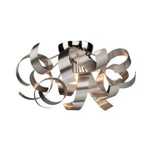 Artcraft Lighting Bel Air 19.0-in W Brushed Nickel Modern Contemporary Flush Mount Light