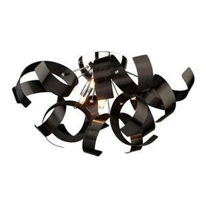 Artcraft Lighting Bel Air 19.0-in W Black Modern Contemporary Flush Mount Light