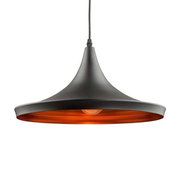 Artcraft Lighting Connecticut 14-In x 7-In Matte Black Hardwired Single Cone Pendant Lighting