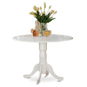 East West Furniture Dublin Linen white Round Table