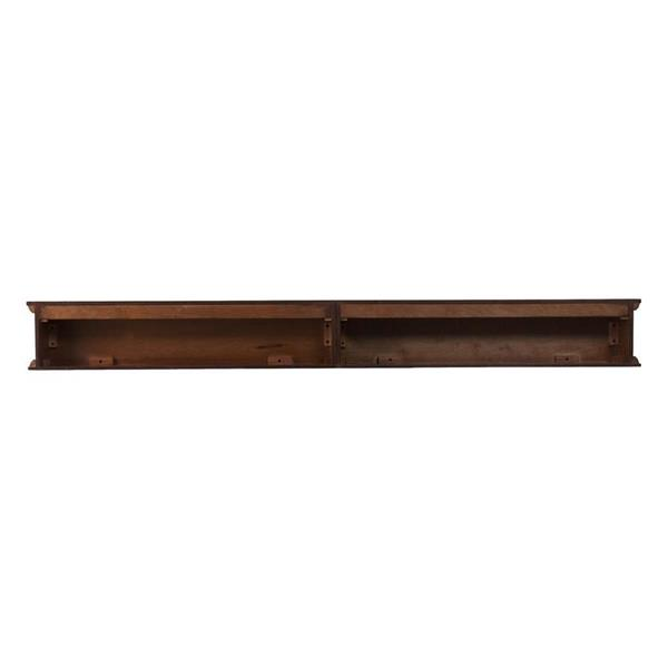 Boston Loft Furnishings 72-in x 8.25-in x 8-in D Rich Whiskey Maple Fireplace Mantel