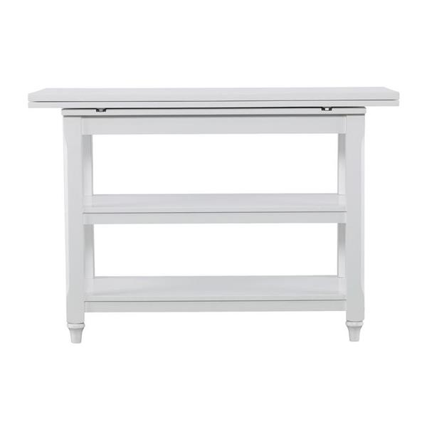 Boston Loft Furnishings Anniston 35.5-in x 29.5-in White Birch Convertible Console To Dining Table