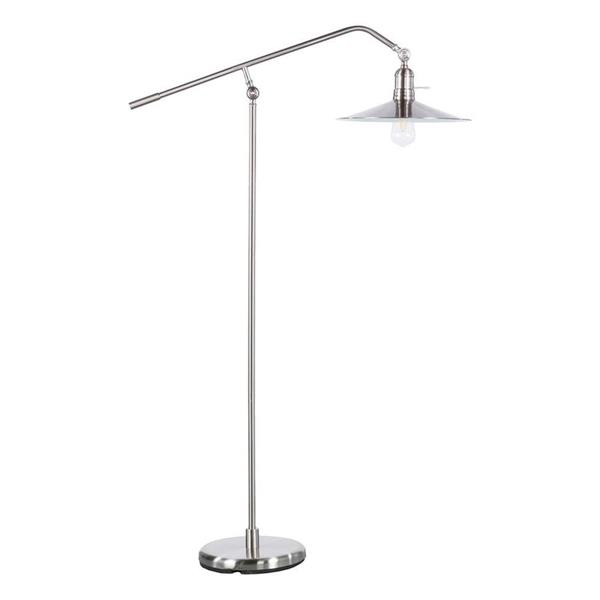 Boston Loft Furnishings 70.25-in Brushed Nickel Bren Floor Lamp