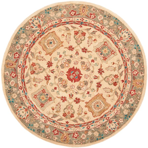 Safavieh Anatolia Rug - Round - 8-ft x 8-ft - Beige & Green