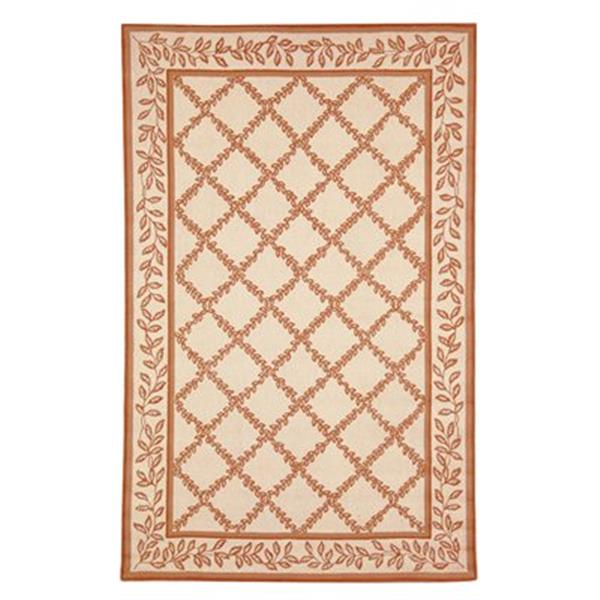 Safavieh Chelsea Ivory and Camel Area Rug,HK230C-6