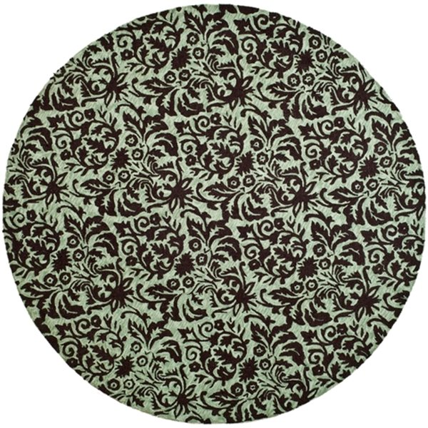 Safavieh Chelsea Sage and Chocolate Area Rug,HK368C-8R