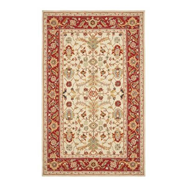 Safavieh Chelsea Ivory and Red Area Rug,HK751C-6