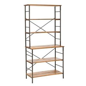 Safavieh Brooke 77.2-in x 36.6-in Walnut Etagere