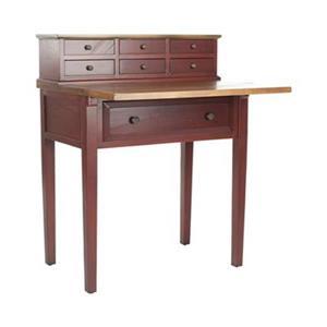 Safavieh Abigail Cherry Honey Oak Fold-Down Writing Desk