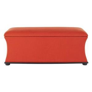 Safavieh Aurora 20.50-in x 36.20-in Orange Linen Storage Bench