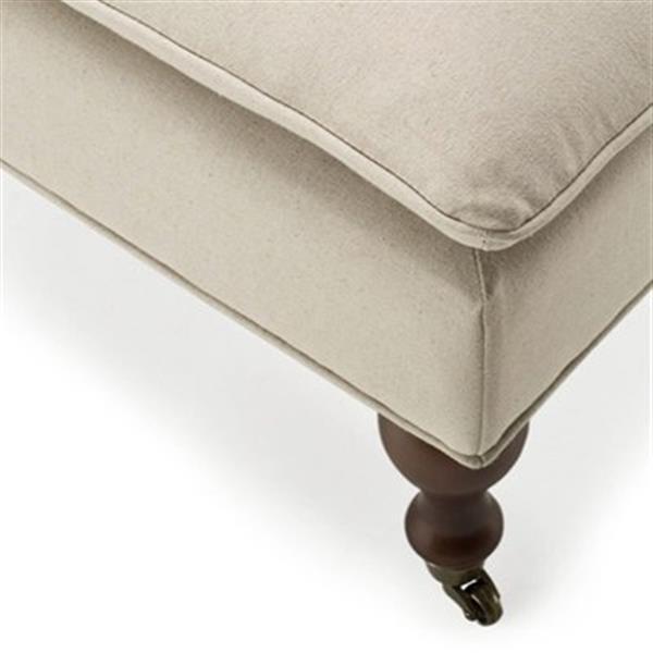 Safavieh Hampton 19.10-in x 51.80-in Beige Pillow Top Indoor Accent Bench
