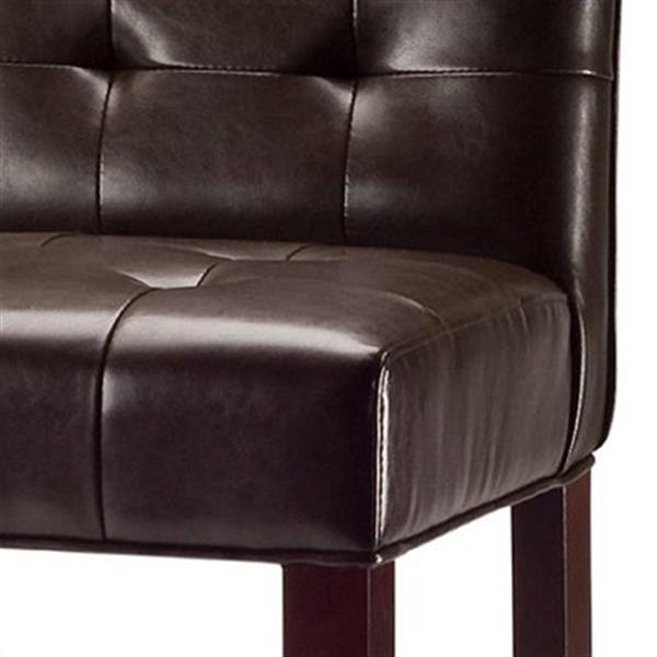 Safavieh Thompson 20.10-in x 40.60-in Brown Bicast Leather Bar Stool