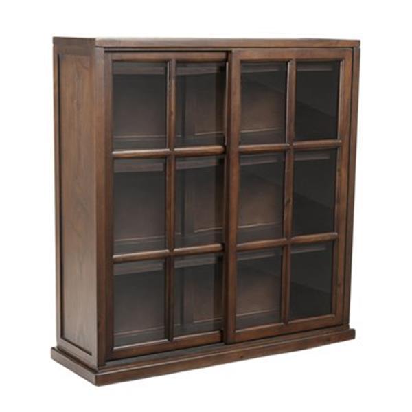 Safavieh Greg Walnut Closed Back Bookcase